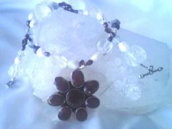 Ruby with Quartz, Garnets and Pearls